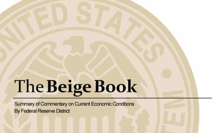 Libro Beige de la Fed
