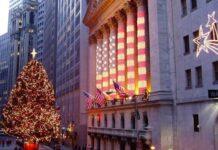Navidad en la Bolsa de Nueva York. Días festivos en Wall Street.