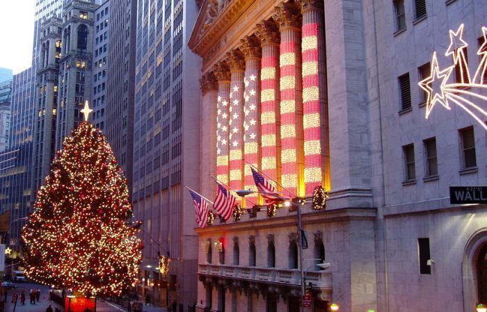 Navidad en la Bolsa de Nueva York, uno de los días festivos en Wall Street.